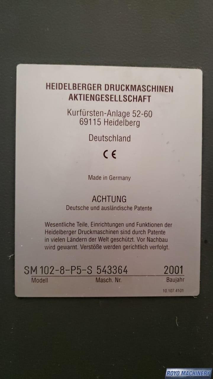 Heidelberg Speedmaster SM 102-8