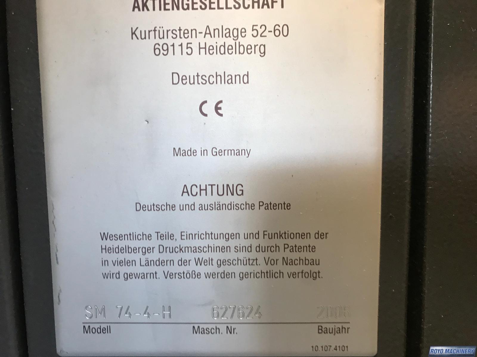 Heidelberg Speedmaster SM 74-4